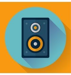 Flat Audio music and media Speaker icon vector image