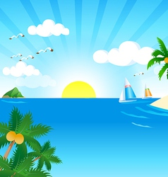 Sunny and Sea vector image vector image