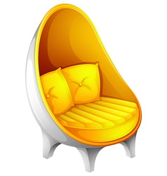 A yellow chair vector