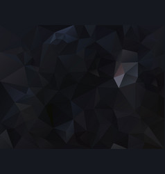 Abstract black polygon background vector