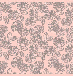 Abstract floral seamless pattern with roses vector