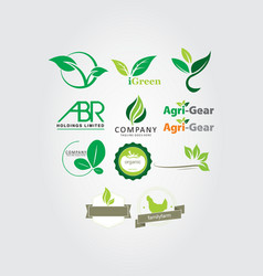 Agriculture logo designs collection vector