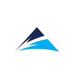arrow mountain logo vector image