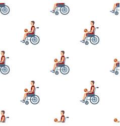 basketball player disabledbasketball pattern icon vector image