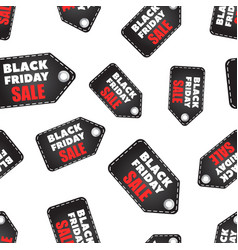 black friday sales tag seamless pattern vector image