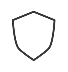 Blank shield icon vector