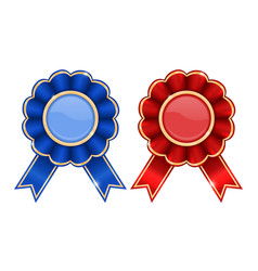 blue and red award badges vector image