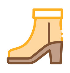 boot shoe icon outline vector image