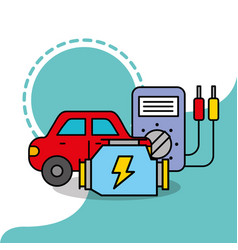 Car service maintenance electrical radiator vector