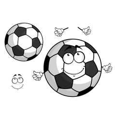 Cartoon football or soccer ball mascot vector