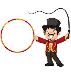 Cartoon tamer holding ring vector