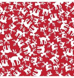 christmas reindeer red pattern eps10 vector image