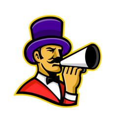 circus ringleader or ringmaster mascot vector image