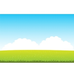 Clean field with flower vector image