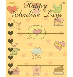 Collection valentine day greeting card vector