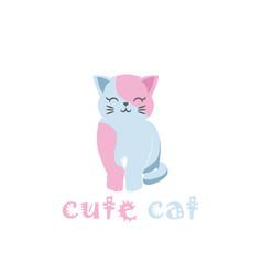 cute cat logo character or mascot vector image