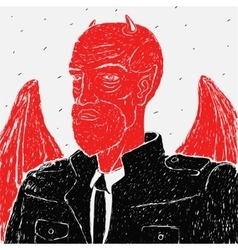 devil in a business suit vector image