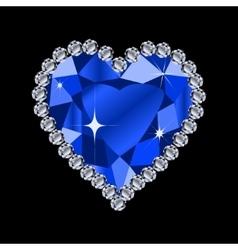 Diamond heart shape vector