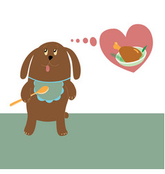 dog dreams about meat vector image