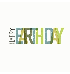 Earth Day Calebration Typography Minimalistic logo vector image
