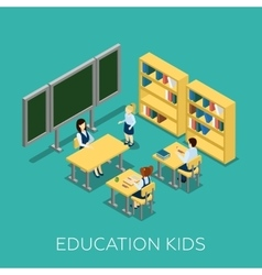 Education Isometric vector image