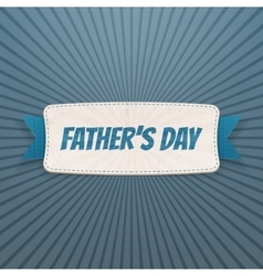 Fathers Day textile Banner with greeting Ribbon vector