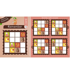 Find right answer memory sweets vector