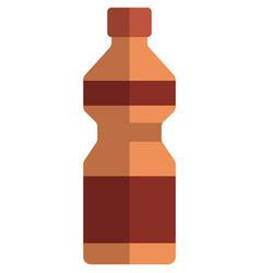 fitness water bottle plastic sport flask vector image