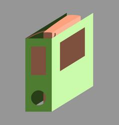 Flat icon on stylish background folder vector