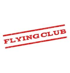 Flying Club Watermark Stamp vector image