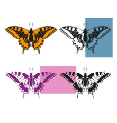 Four variants butterfly vector