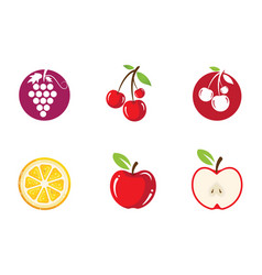 fresh fruit icon design template vector image