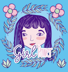 Girl power cartoon vector