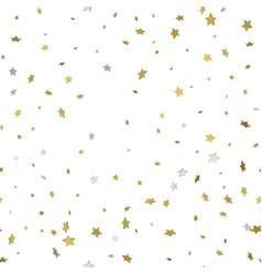 gold star confetti rain festive holiday vector image