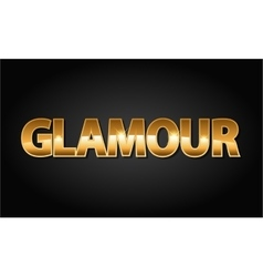 Golden glamour luxury word in black vector