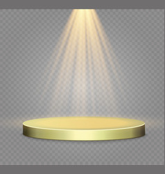 Golden podium on a transparent backgroundthe vector