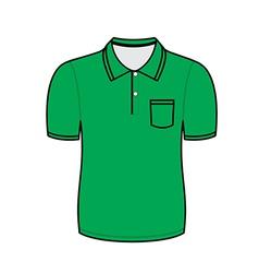 Green polo shirt outline vector