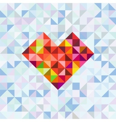 Greeting card with heart symbol vector image