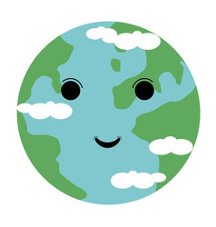 happy globe image vector image