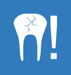Icon tooth fracture vector