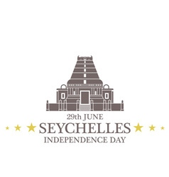 Independence Day Seychelles vector image