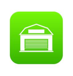 industrial building icon digital green vector image