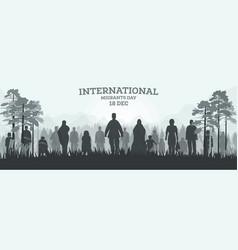 International migrants day 18 december web banner vector