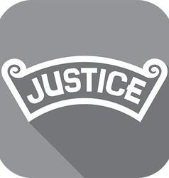 Justice Banner Icon vector image