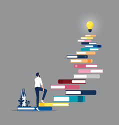 Knowledge is ladder to success-self development vector