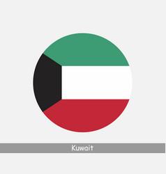 Kuwait round circle flag vector