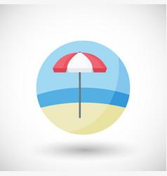 Lifeguard umbrella flat icon vector