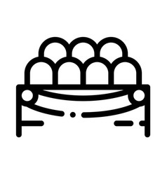 lodge spectators icon outline vector image