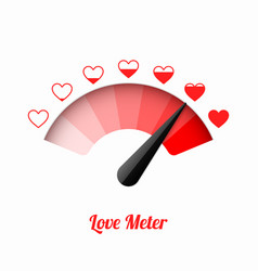 Love meter valentines day card design element vector