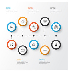 Management icons set collection of authentication vector